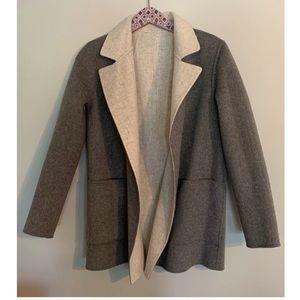 Theory Sileena Clairine Overlay Reversible Coat.